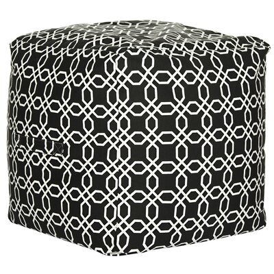 Brooklyn Cube Ottoman Color: Greige/White