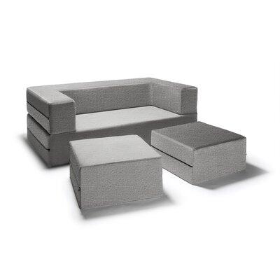 Eugene Modular Loveseat & Ottoman Sleeper Upholstery: Gray