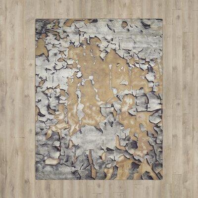 Annan Beige/Silver Area Rug Rug Size: 99 x 139