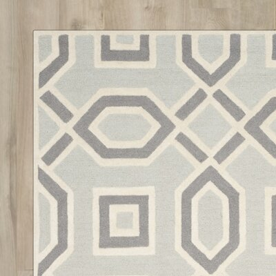 Arthur Hand-Tufted Grey / Ivory Area Rug Rug Size: Rectangle 4 x 6