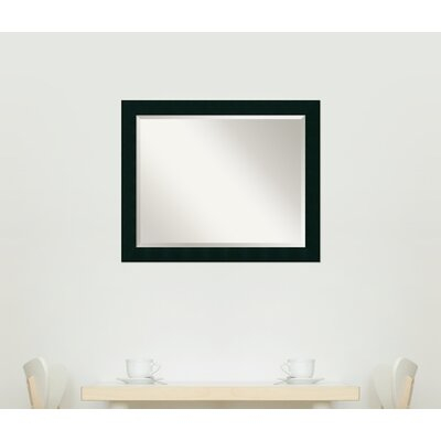 Jayden Rectangle Wood Mirror Size: 26.13'' H x 32.13'' W