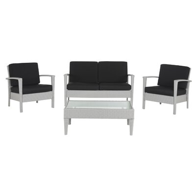 Arnoltice 4 Piece Deep Seating Group with Cushion
