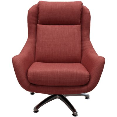 Linda Swivel Lounge Chair Upholstery: Spice