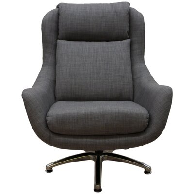 Linda Swivel Lounge Chair Upholstery: Ash