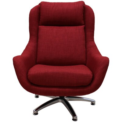 Linda Swivel Lounge Chair Upholstery: Cherry