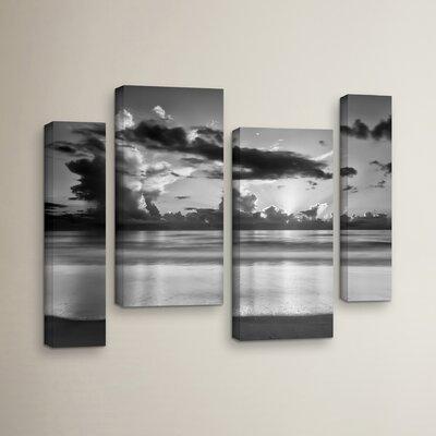 Atlantic Sunrise No.19 4 Piece Photographic Print on Wrapped Canvas Set