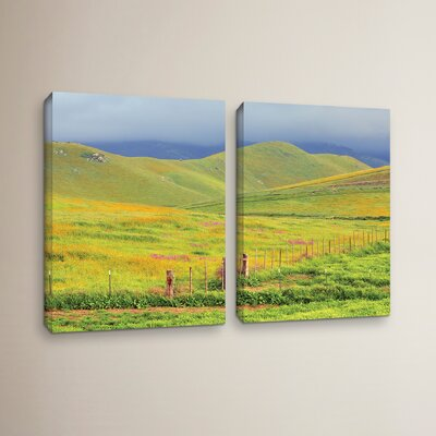 Wildflower Hills 2 Piece Photographic Print on Wrapped Canvas Set