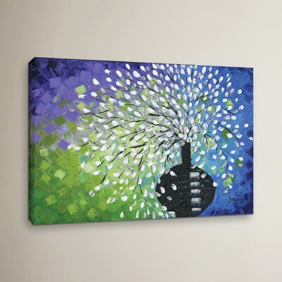 Flower Colors 1 Painting Print on Wrapped Canvas Size: 12