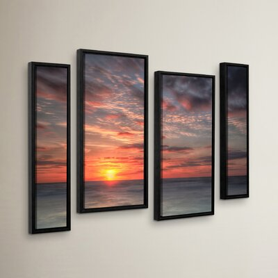 Atlantic Sunrise No.9 4 Piece Framed Photographic Print Set