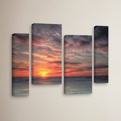 Atlantic Sunrise No.9 4 Piece Photographic Print on Wrapped Canvas Set
