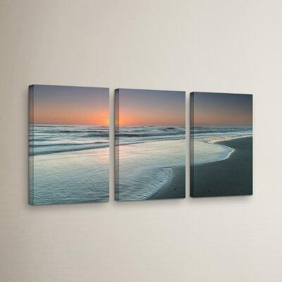 Atlantic Sunrise No.8 3 Piece Photographic Print on Wrapped Canvas Set
