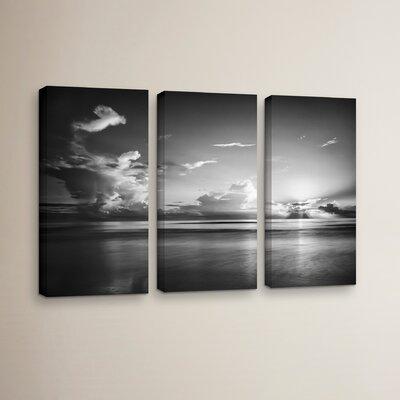 Atlantic Sunrise No.27 3 Piece Photographic on Wrapped Canvas Set