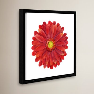 Red Gerbera Daisy Framed Painting Print