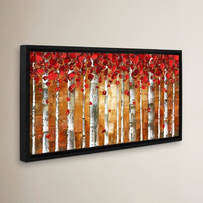 Red Birch Framed Painting Print Size: 12