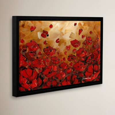 Poppies Framed Painting Print Size: 12