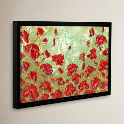 Red Flowers Framed Painting Print