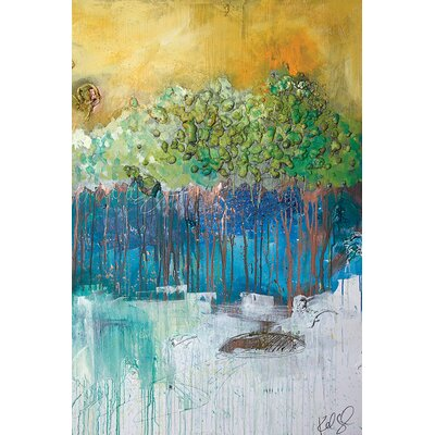 Dimensional Trees II Wall Art on Wrapped Canvas Size: 12