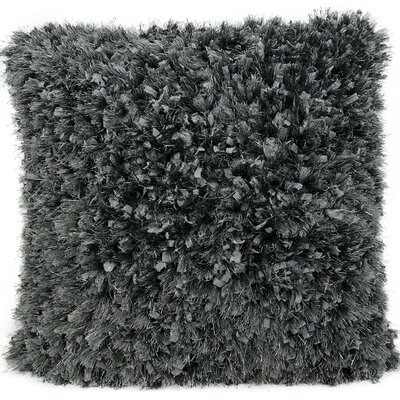 Rossmore Shag Throw Pillow Color: Charcoal
