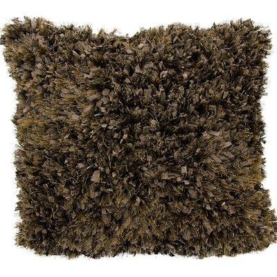 Rossmore Shag Throw Pillow Color: Brown