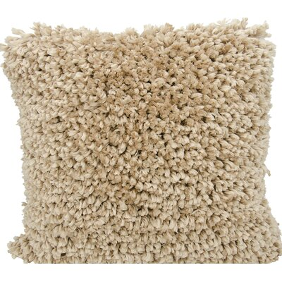 Linley Shag Throw Pillow Color: Beige