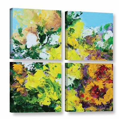 Alnwick Garden 4 Piece Painting Print on Wrapped Canvas Set