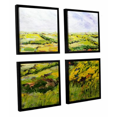 Ambleside 4 Piece Framed Painting Print on Canvas Set
