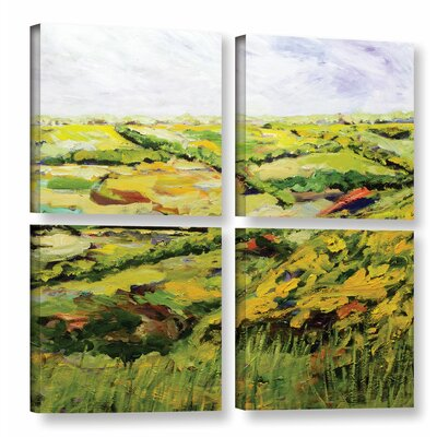 Ambleside 4 Piece Painting Print on Wrapped Canvas Set