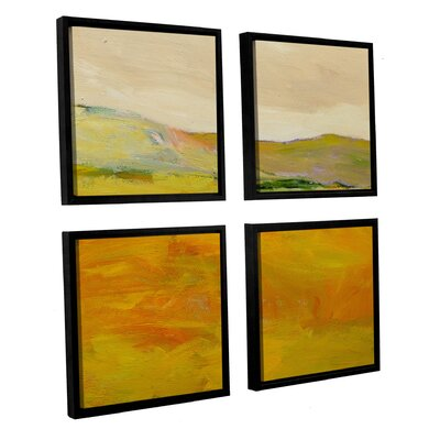Andover 4 Piece Framed Painting Print on Canvas Set