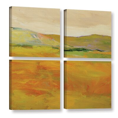 Andover 4 Piece Painting Print on Wrapped Canvas Set