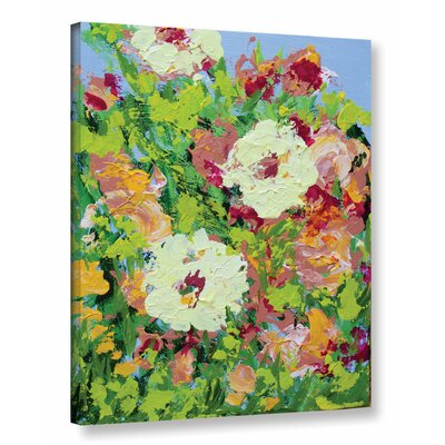 Arylies Garden Painting Print on Wrapped Canvas