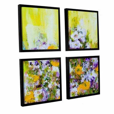 Bois De Vincennes Garden 4 Piece Framed Painting Print on Canvas Set