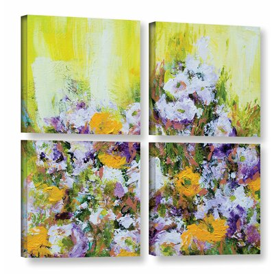 Bois De Vincennes Garden 4 Piece Painting Print on Wrapped Canvas Set