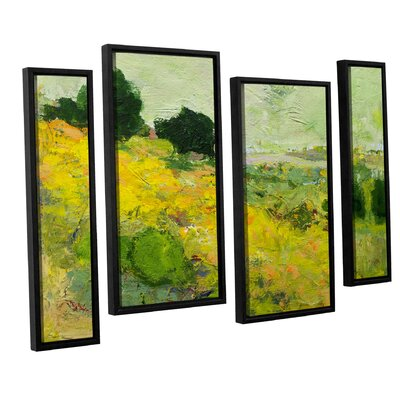 Brighton 4 Piece Framed Painting Print on Canvas Set