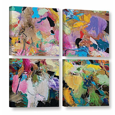 Capri 4 Piece Painting Print on Wrapped Canvas Set Size: 36