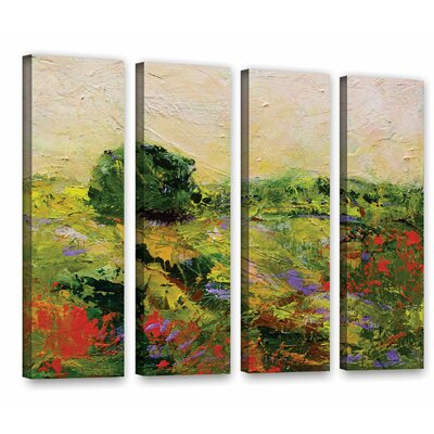 Chippenham 4 Piece Painting Print on Wrapped Canvas Set