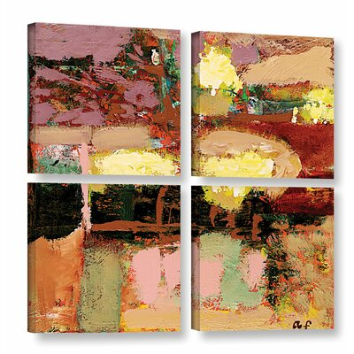 Chop Liver 4 Piece Painting Print on Wrapped Canvas Set Size: 36
