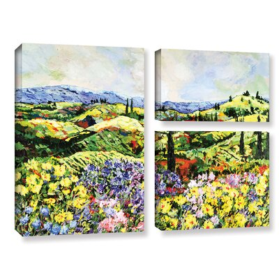 Dream Valley 3 Piece Painting Print on Wrapped Canvas Set