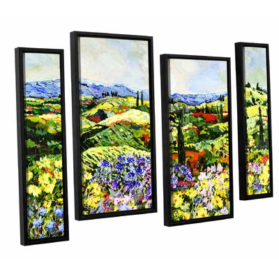 Dream Valley 4 Piece Framed Painting Print on Canvas Set