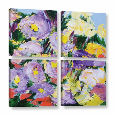 Dumbarton Oaks Garden 4 Piece Painting Print on Wrapped Canvas Set Size: 36