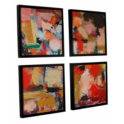 Entropy 4 Piece Framed Painting Print on Canvas Set