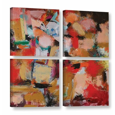 Entropy 4 Piece Painting Print on Wrapped Canvas Set
