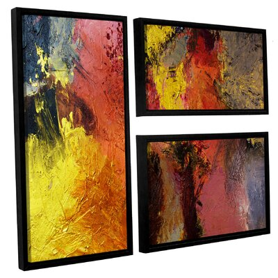 Fire and Brimstone 3 Piece Framed Painting Print on Canvas Set