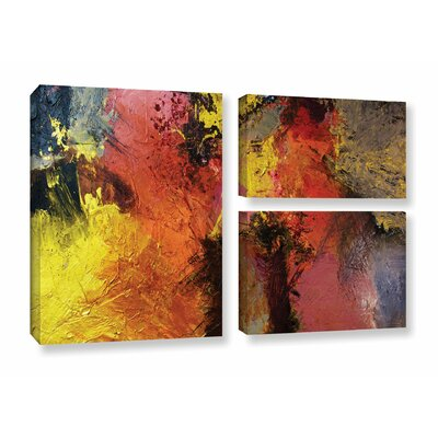 Fire and Brimstone 3 Piece Painting Print on Wrapped Canvas Set