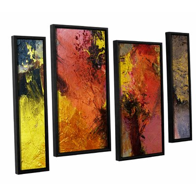 Fire and Brimstone 4 Piece Framed Painting Print on Canvas Set Size: 24