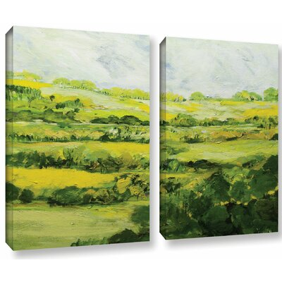 Folkestone 2 Piece Painting Print on Wrapped Canvas Set