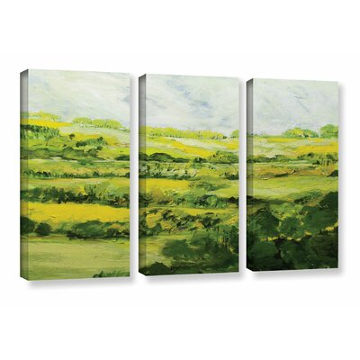 Folkestone 3 Piece Painting Print on Wrapped Canvas Set