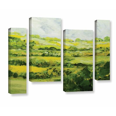 Folkestone 4 Piece Painting Print on Wrapped Canvas Set