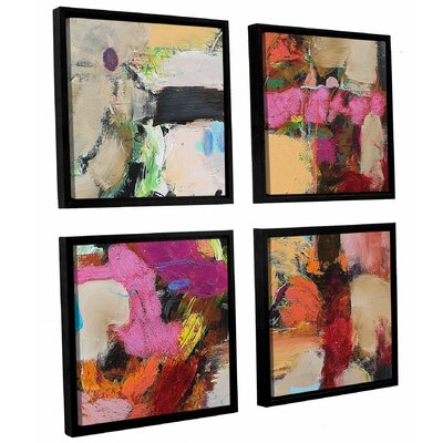 Follies 4 Piece Framed Painting Print on Canvas Set Size: 36