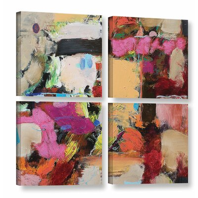 Follies 4 Piece Painting Print on Wrapped Canvas Set Size: 36