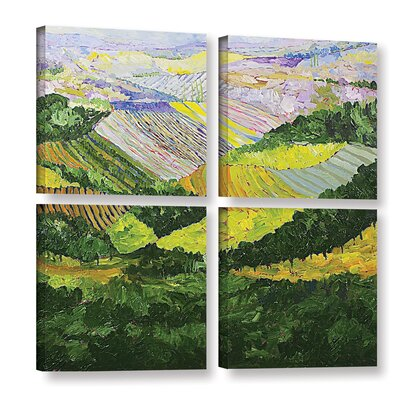 Forest and Harvest 4 Piece Painting Print on Wrapped Canvas Set